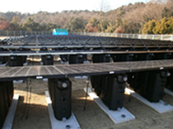 貯水タンク式架台
