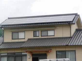 和瓦屋根(切妻屋根へ設置)