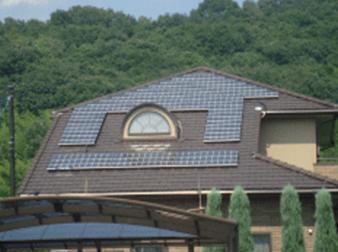 平板屋根(寄棟へ設置)