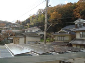 折板屋根(車庫へ設置)